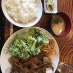 彩光 - 豚焼肉定食 800円税別
