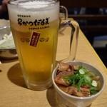 85919815 - 生ビール&どて焼き