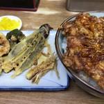 豊野丼 - ほたての切り落としかきあげ天丼