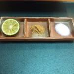 天富 - 酢橘、カレー塩、塩