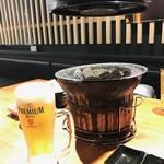炭火焼肉ぐら - 生ビール・2018/4