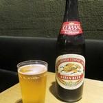 那古野 沢瀉食堂 - 瓶ビール(中) キリンラガー 756円(税込)。     2018.05.03