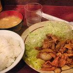 中華料理 松楽 - 焼肉定食700円