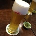 85931106 - 宗庵 まずはビールで乾杯。