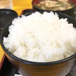 神戸一 - 自家製米のご飯は、11:00までは大盛り無料です(2018.5.16)