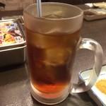 横綱 - ウェルカムドリンクのウーロン茶