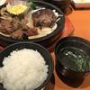 すてぇ~き - 料理写真:ご飯、スープ、サラダのセット