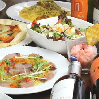 豊富なメニューは40種以上!イタリア&スペイン料理を豊富に♪