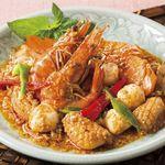 チャンパー - シーフードの辛味噌炒め