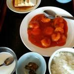 台湾料理 味源 - エビチリランチ   680円