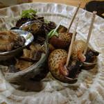 酒場 16番 - 貝三種盛りは煮貝