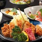 炭火倶楽部 肴 - とんかつ膳(ロース)