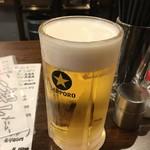 とりビアー - 生ビール 大 800ml  580円税別