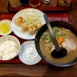 らーめん古潭 - 海老天定食(980円)