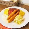 洋食屋 - 料理写真:エビフライ+オムset
