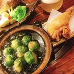 厨 らぱらぱ - 芽キャベツのアヒージョ