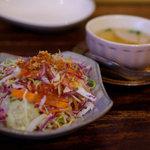 Rakota - Bランチ 汁麺&豆乳タイカレーに付いてくるサラダ