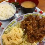 中華 富士 - ♪豚の焼肉定食¥750