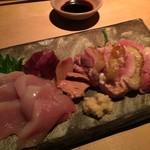 TAKASEGAWA - 淡海地鶏刺し盛り