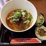 チャ~ボン 多福楼 - ランチの「牛バラ刀削麺」(大盛り780円)