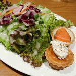 市ヶ谷GRATO - サラダと2種のタルト