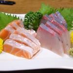 なか栄 - 料理写真:とろサーモン&かんぱち