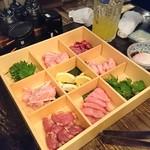 Yakitoriakira - 鶏盛り合わせ 1900円