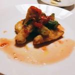 85976477 - 穴子と春野菜のフリット フレッシュトマトソース