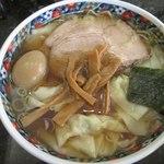 春木屋 - 料理写真:わんたん麺大盛り味玉1250円