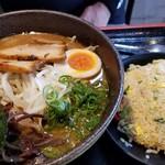 まるせいラーメン - 地鶏味噌らーめんセット