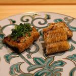 はらまさ - 宍道湖の天然ウナギの蒲焼と白焼き