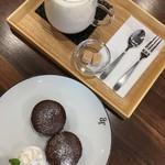 cafe ∞ - フォンダンショコラとカフェラテ