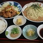 味ひろ - 唐揚げ+ざる中華セット