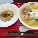 竹末道の駅本陣 - 料理写真:ヤシオマスと熟成肉、鮎などラーメン屋には珍しいですよね