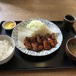 こだわりとんかつ播 - 料理写真:私の食べたトンテキランチ ソースは2種類から選べます