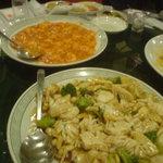 86559 - イカのオイスターソース炒めと小エビのチリソース煮