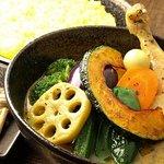 イエロー - 料理写真:チキン野菜カリー