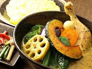 イエロー - チキン野菜カリー