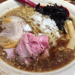 焼きあご塩らー麺 たかはし - 「背脂醤油らー麺」800円+「大盛」120円