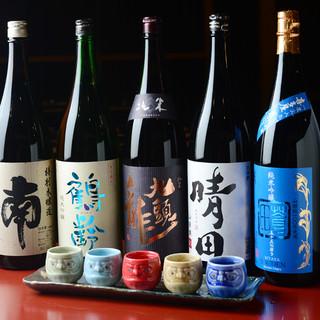なんト、銘酒も日本酒580円~!魚との相性抜群です!