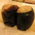 にぎりめし - 牛肉しぐれ煮・三升漬け納豆