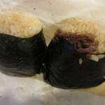 にぎりめし - 三升漬け納豆・牛肉しぐれ煮