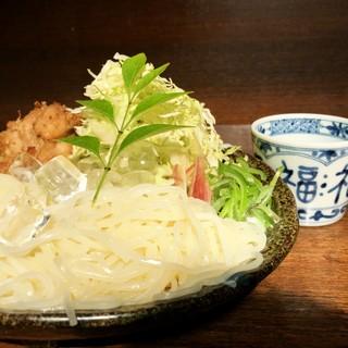 【夏限定】昨年好評だった『狄風』つけ麺竜田添え730円