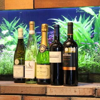 世界各国のワインやお料理に合うワインをご提供いたします!