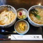 更科丸屋 - 料理写真:玉丼セット¥800-