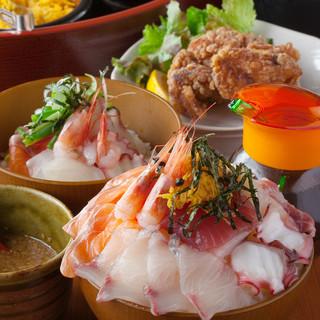 土・日・祝日限定★海鮮丼ビュッフェランチ1500円