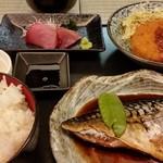 お魚のお店 福玄丸 - 鯖の煮付け定食。