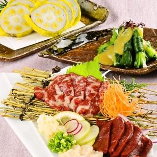 熊本の郷土料理を豊富に取り揃えています