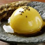 さつま芋のジェラート生姜みたらし餡