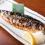 焼き鯖定食(ご飯・味噌汁・サラダ・漬物・生卵つき)